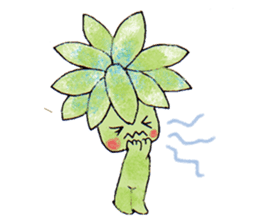 The strange and cute stamp of succulent sticker #3656480
