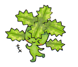 The strange and cute stamp of succulent sticker #3656497