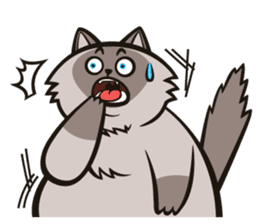 Pao Pao Piggy Cat sticker #3657180
