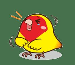 Misslovebird-Cute Lovebird sticker #3658235