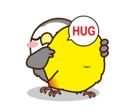 Misslovebird-Cute Lovebird sticker #3658252