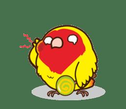 Misslovebird-Cute Lovebird sticker #3658265
