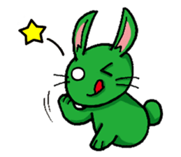 Month warrior rabbit Raby sticker #3659809