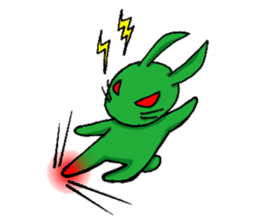 Month warrior rabbit Raby sticker #3659826