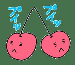 Smiling cherries sticker #3662907