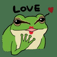 Tree frog man! sticker #3671594