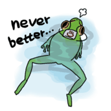 Tree frog man! sticker #3671595