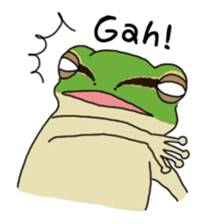 Tree frog man! sticker #3671606