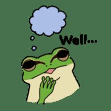 Tree frog man! sticker #3671613