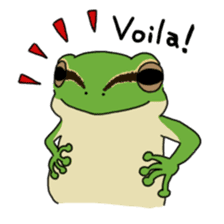 Tree frog man! sticker #3671614