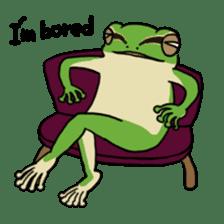 Tree frog man! sticker #3671621
