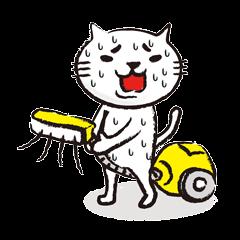 Very white cat 3