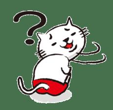 Very white cat 3 sticker #3673632