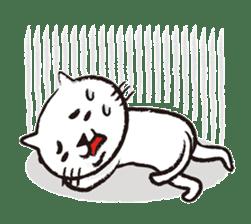 Very white cat 3 sticker #3673633