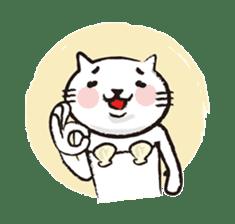 Very white cat 3 sticker #3673637