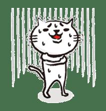Very white cat 3 sticker #3673638