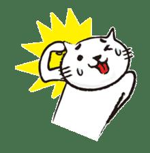 Very white cat 3 sticker #3673639
