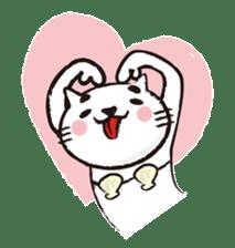 Very white cat 3 sticker #3673640
