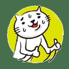 Very white cat 3 sticker #3673641