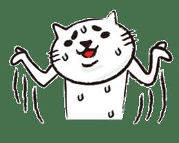 Very white cat 3 sticker #3673642