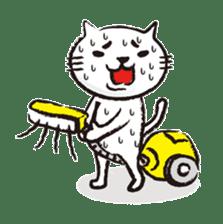 Very white cat 3 sticker #3673643