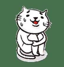 Very white cat 3 sticker #3673644