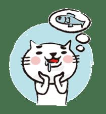 Very white cat 3 sticker #3673645