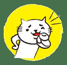 Very white cat 3 sticker #3673646