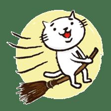 Very white cat 3 sticker #3673654