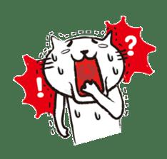 Very white cat 3 sticker #3673656