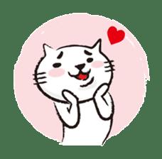 Very white cat 3 sticker #3673658