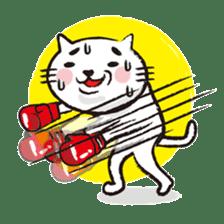 Very white cat 3 sticker #3673662
