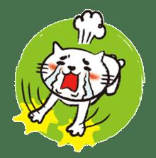 Very white cat 3 sticker #3673663