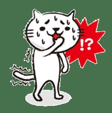 Very white cat 3 sticker #3673667