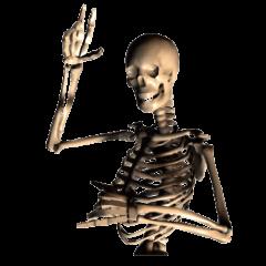 Honest skeleton!