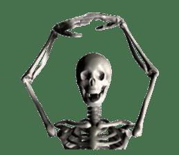 Honest skeleton! sticker #3673711