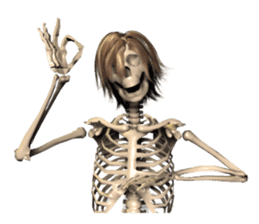 Honest skeleton! sticker #3673712