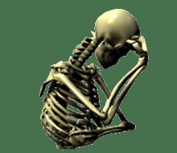 Honest skeleton! sticker #3673714