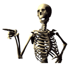 Honest skeleton! sticker #3673716