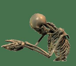 Honest skeleton! sticker #3673722