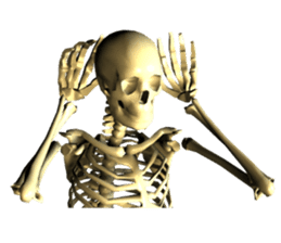 Honest skeleton! sticker #3673727