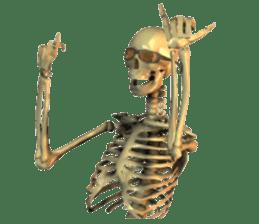Honest skeleton! sticker #3673731