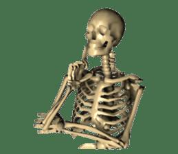 Honest skeleton! sticker #3673737