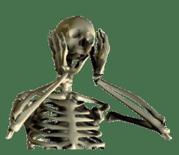 Honest skeleton! sticker #3673739
