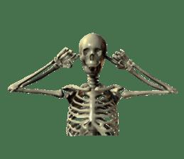 Honest skeleton! sticker #3673747