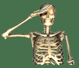 Honest skeleton! sticker #3673750