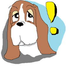 Very cute sisters of Basset Hound. sticker #3674513