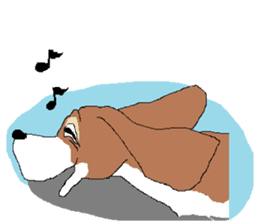 Very cute sisters of Basset Hound. sticker #3674522