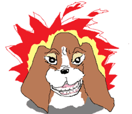 Very cute sisters of Basset Hound. sticker #3674536