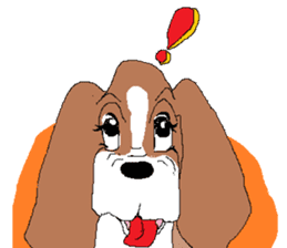 Very cute sisters of Basset Hound. sticker #3674549